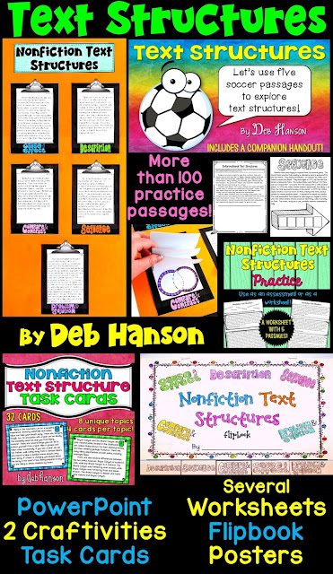 Nonfiction Text Structure Bundle of Activities: Everything you need (and possibly more!) for 4th-6th grade text structure unit!