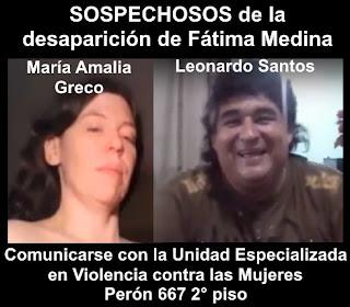 Los sospechosos del secuestro de Fátima