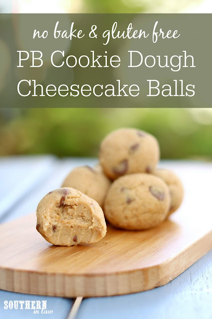 No Bake Peanut Butter Cookie Dough Cheesecake Balls Recipe - gluten free, grain free, healthy, refined sugar free, clean eating dessert recipes