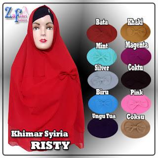Jilbab Khimar Syar'i Risty Polos Model Terbaru