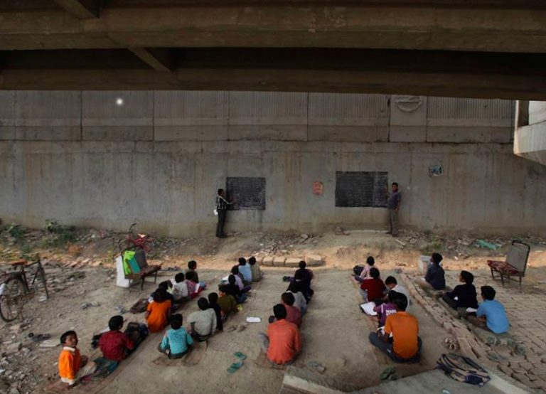 Kind Activist Teaches Underprivileged Children For Free Underneath Bridge In India