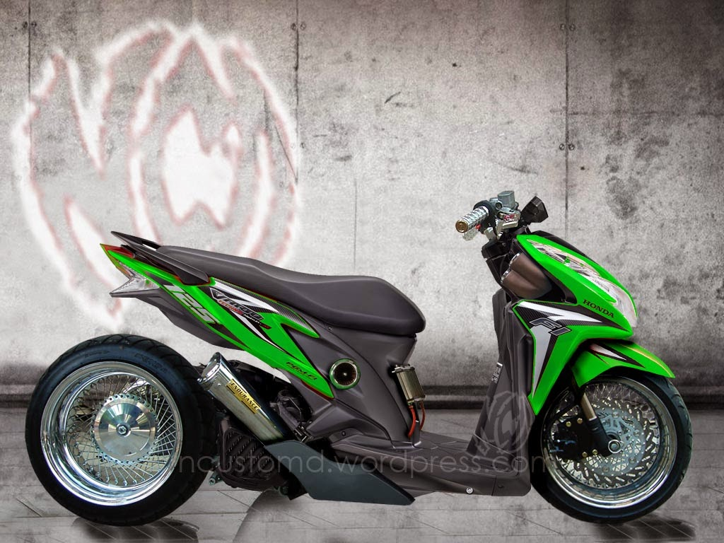 Koleksi Ide Modifikasi Motor Spacy Terbaru Palm Modifikasi