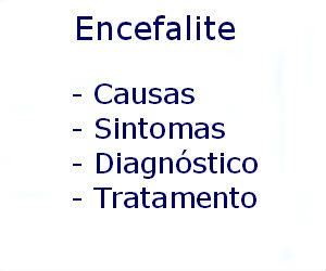 Encefalite causas sintomas diagnóstico tratamento prevenção riscos complicações
