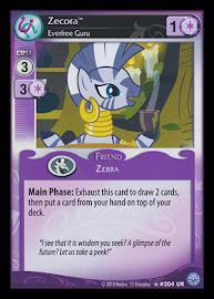 My Little Pony Zecora, Everfree Guru Premiere CCG Card