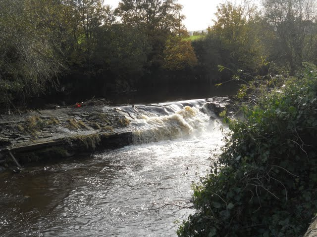 Walk the River Dodder in Dublin - Small Waterfall