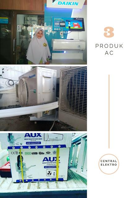 3 macam produk AC yang ada di central elektro