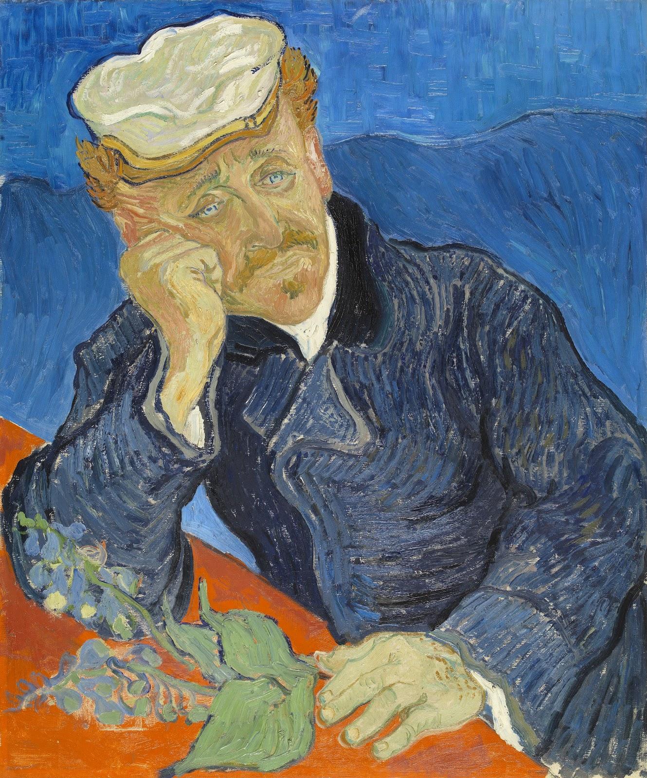 ヴィンセント・ヴァン・ゴッホの『ガシェ医師の肖像』