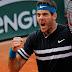 Del Potro logró un gran triunfo ante Isner y pasó a cuartos de final de Roland Garros