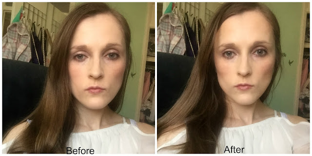 before and after rimmel insta duo contour stick