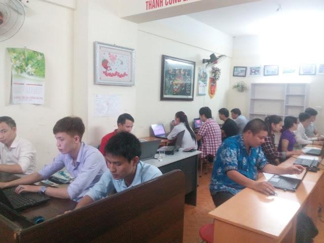Các học viên trong khóa học lập trình web