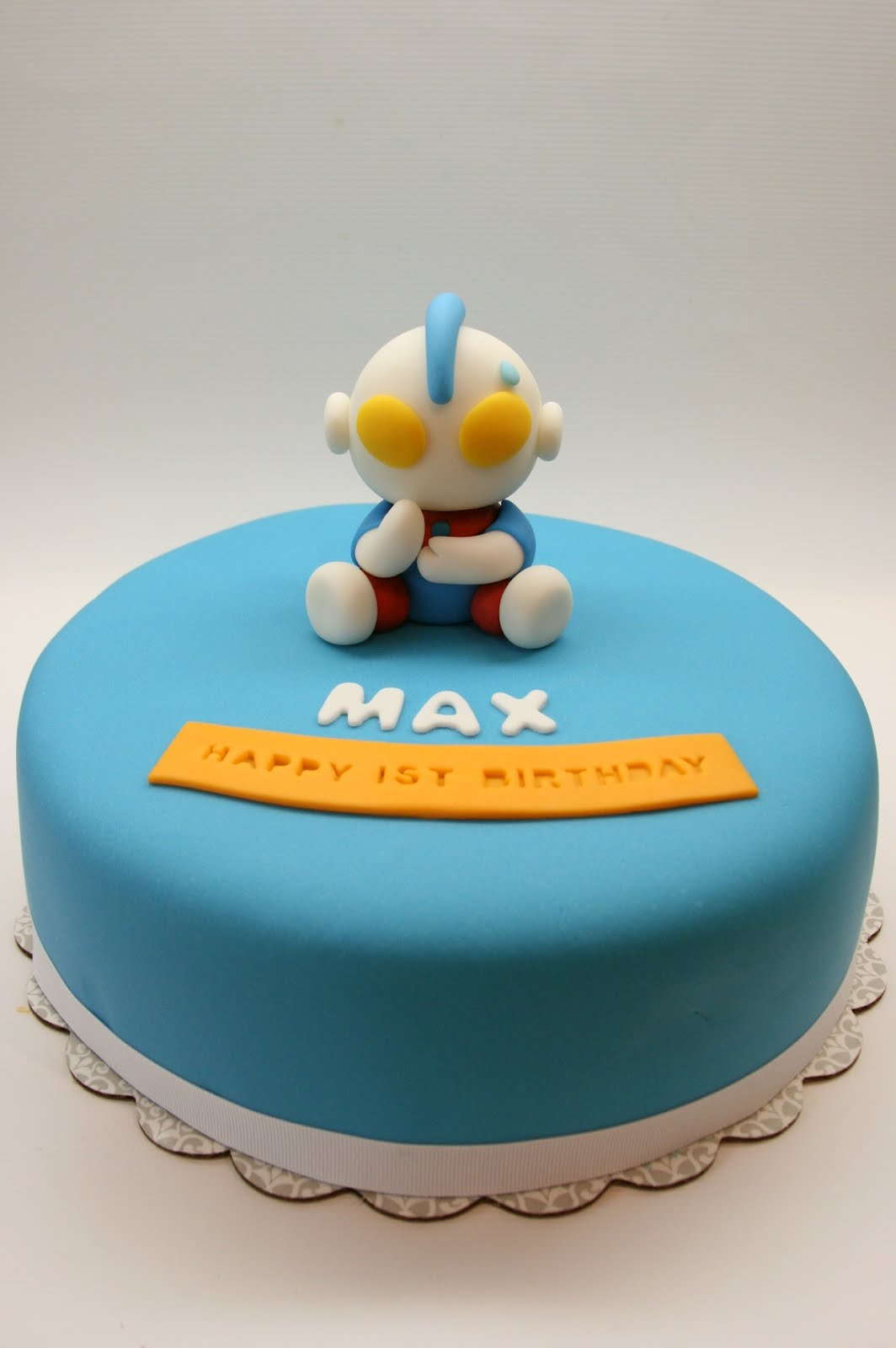 Beautiful Kitchen Ultraman Cake For Max S 1st Birthday