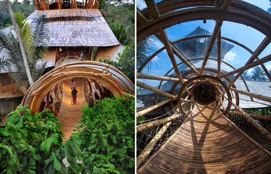 For five years, Hardy and her crew have been revolutionizing bamboo construction in the country. - She Creates Extravagant Tropical Paradises Made Only From Bamboo, Just Check Out The Inside.
