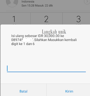 rekening ponsel