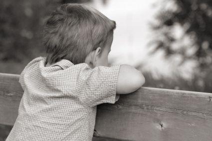 Tristesse d'un petit garçon