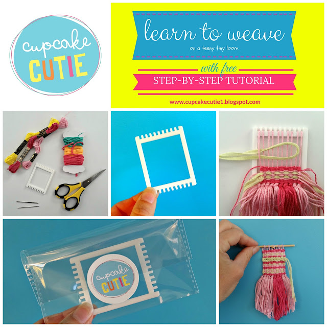 How to weave on a tiny loom: Free step-by-step photo tutorial