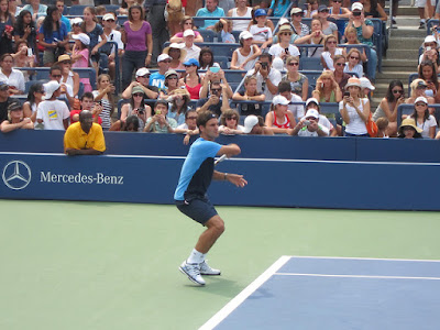 Federer up close at US Open