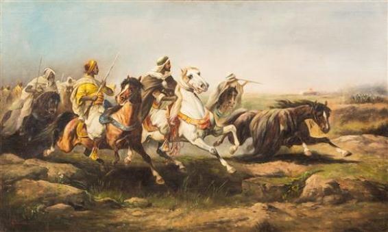 Muhammad-bin-Qasim leading his forces