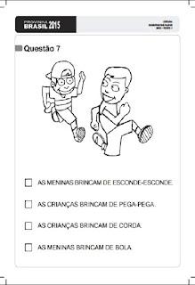 Provinha Brasil 2015/1- Leitura