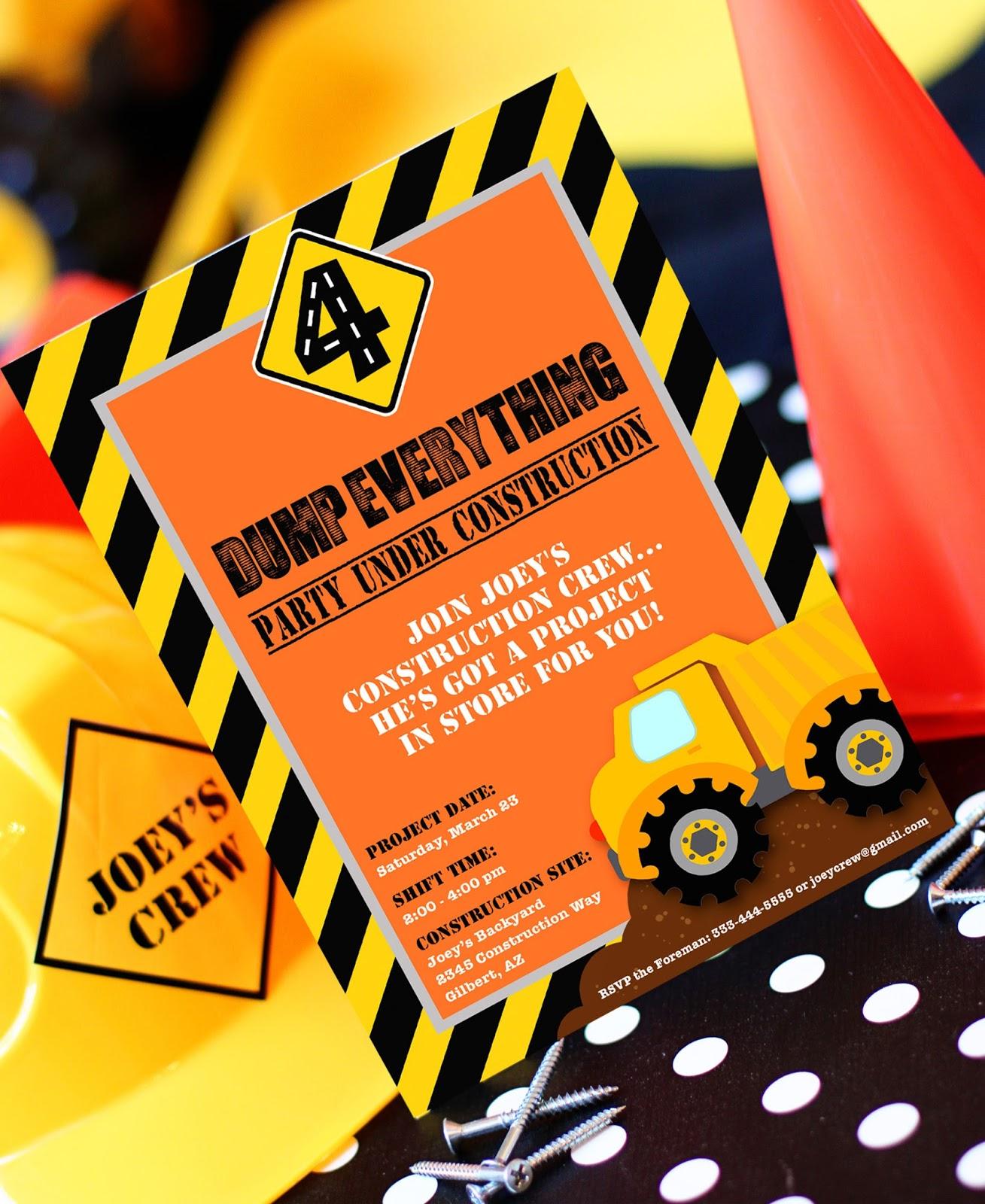 Amanda's Parties To Go: Construction Party