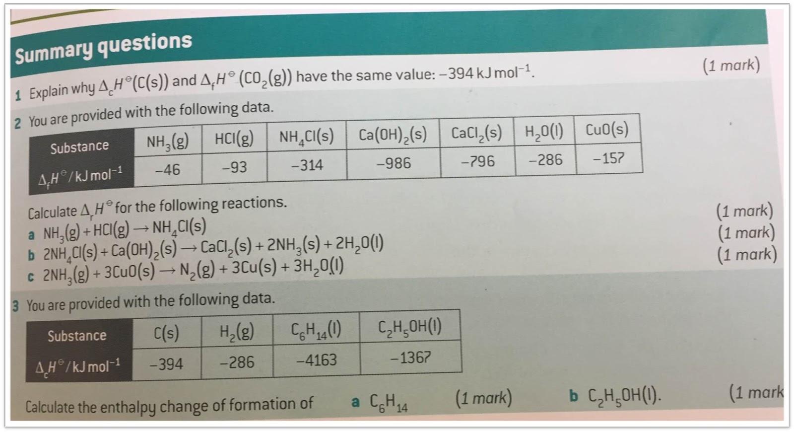 Miss Hunnisett S Science Homework A Level Chemistry