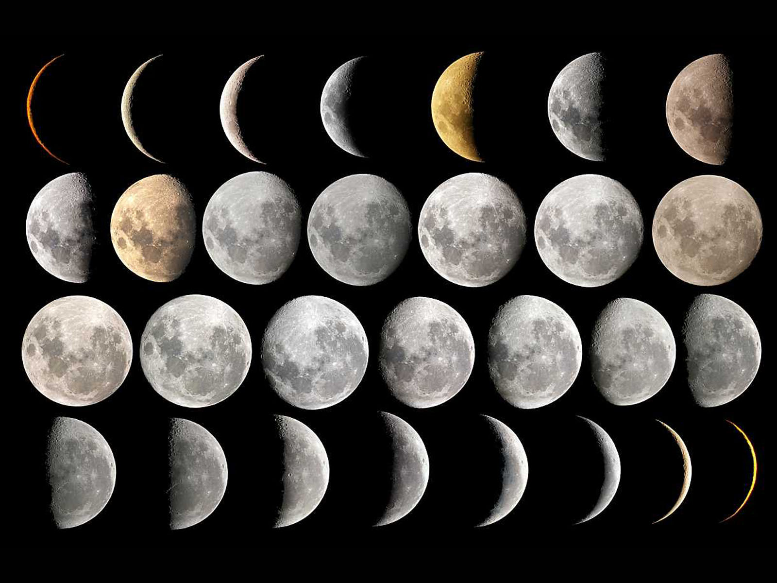 Lunar Calendar The Art Of Timing : Wallpapers moon phases