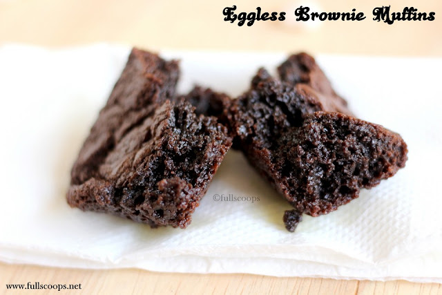 Eggless Brownie Muffins