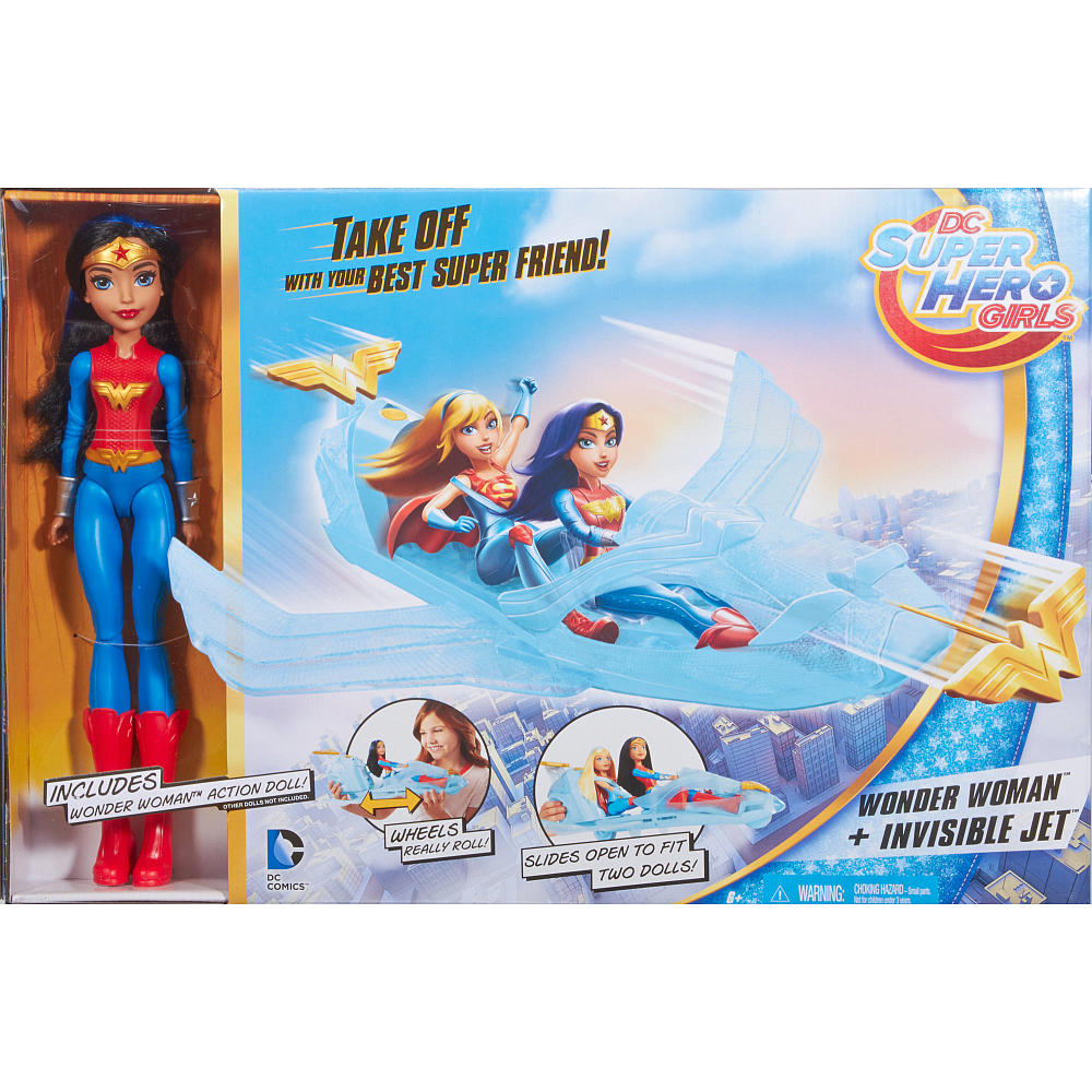 today i ll be reviewing the dc super hero girls wonder woman invisible jet toy i have seen this toy in toys r us and target so if you are going