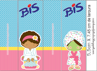 Spa Party Free Printable Labels.