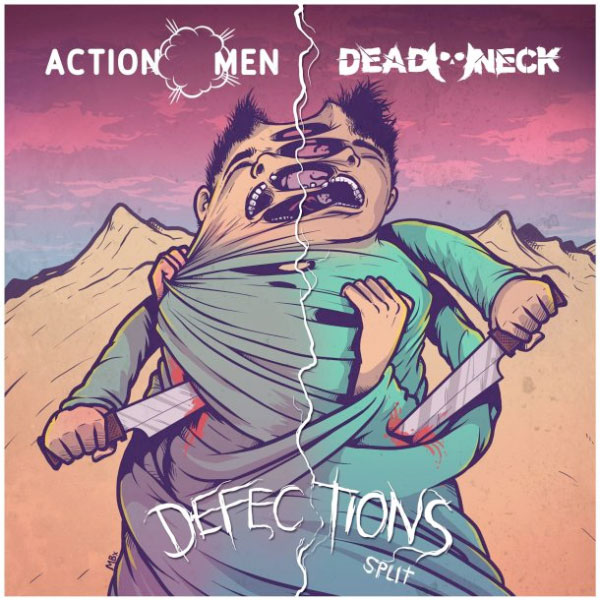 ActionMen and Dead Neck announce new split an Japan Tour 2018