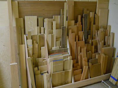 how to store remnants of wood in the garage