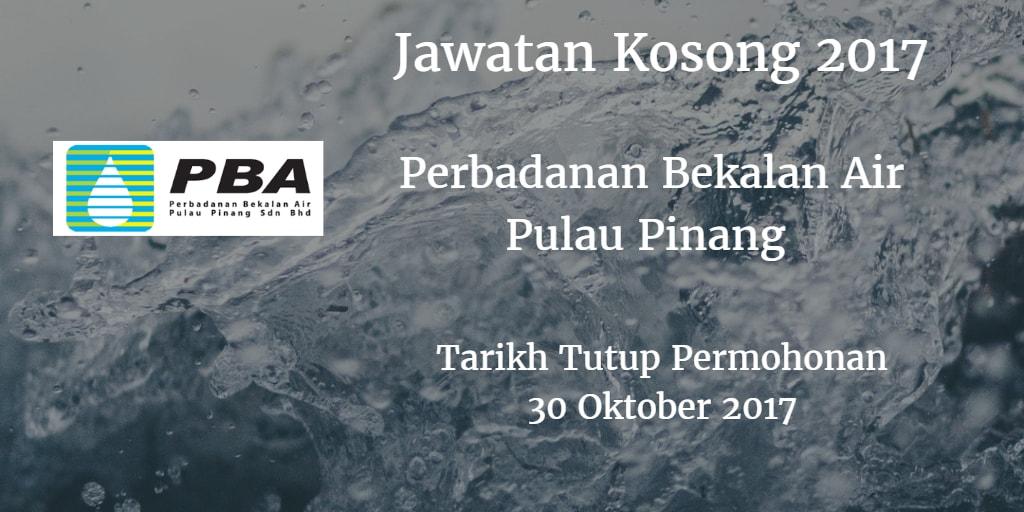 Jawatan Kosong PBA 30 Oktober 2017