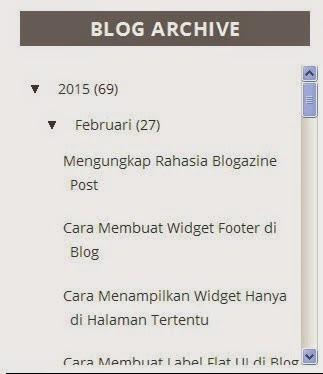 2 Cara Memasang Scroll Blog Archive