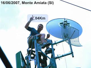 REKOR INSTALASI WIRELESS LINK PTP TERJAUH...304 KM !!