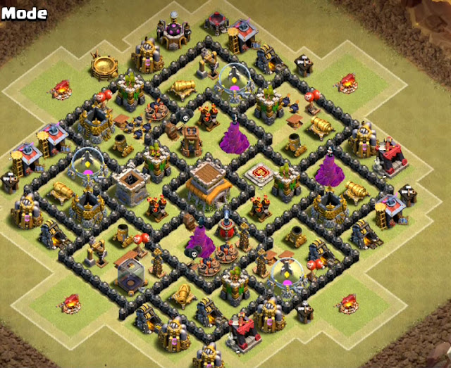 best town hall 8 base design for war anti dragon