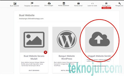 Upload website gratis
