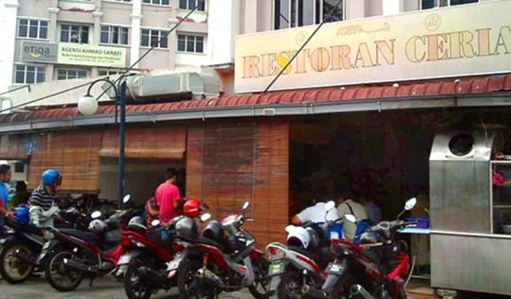 Restoran Ceria tempat makan best di shah alam