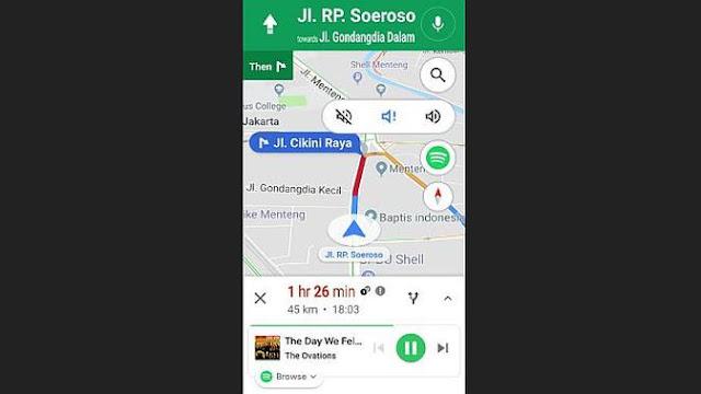 Proses Penggunaan Spotify di Google Maps