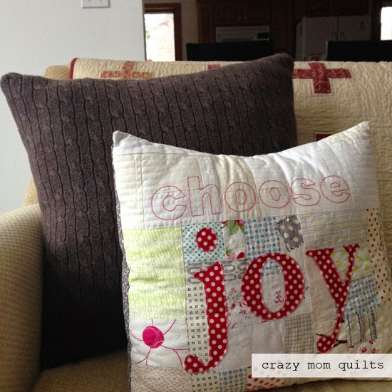 crazy mom quilts: sweater pillow