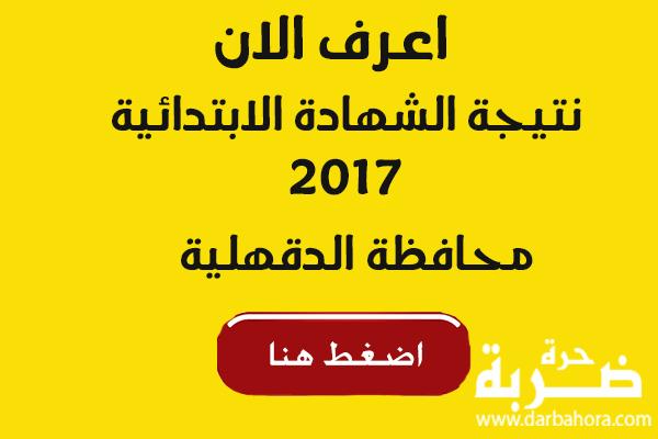 ظهرت نتيجة الشهادة الابتدائية 2017 محافظة الدقهلية | موقع مديرية التربية والتعليم بالدقهلية