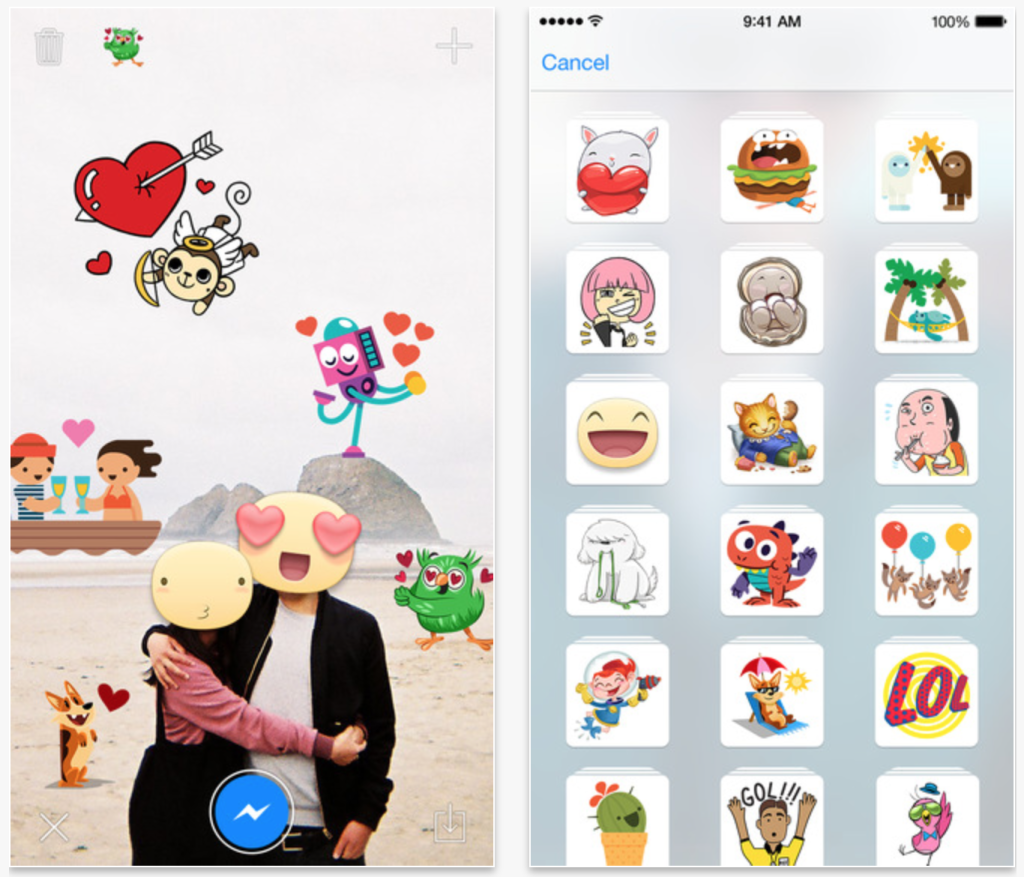 Stickered for messenger app para poner stickers a tus for Emoticones para instagram
