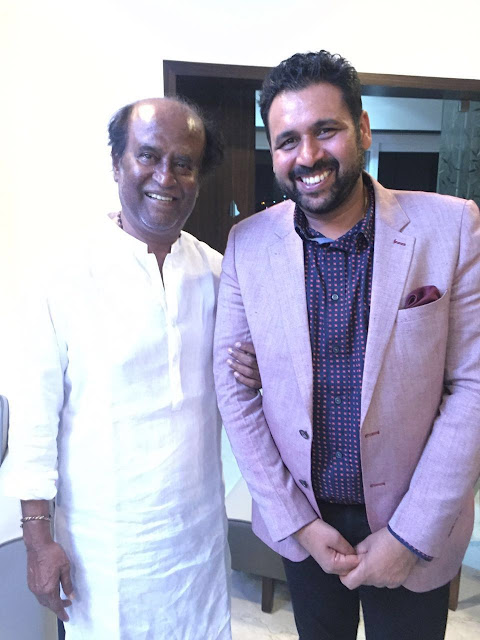 Rajnikant with Arun Pandey