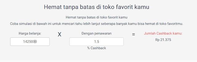Perhitungan Cashback