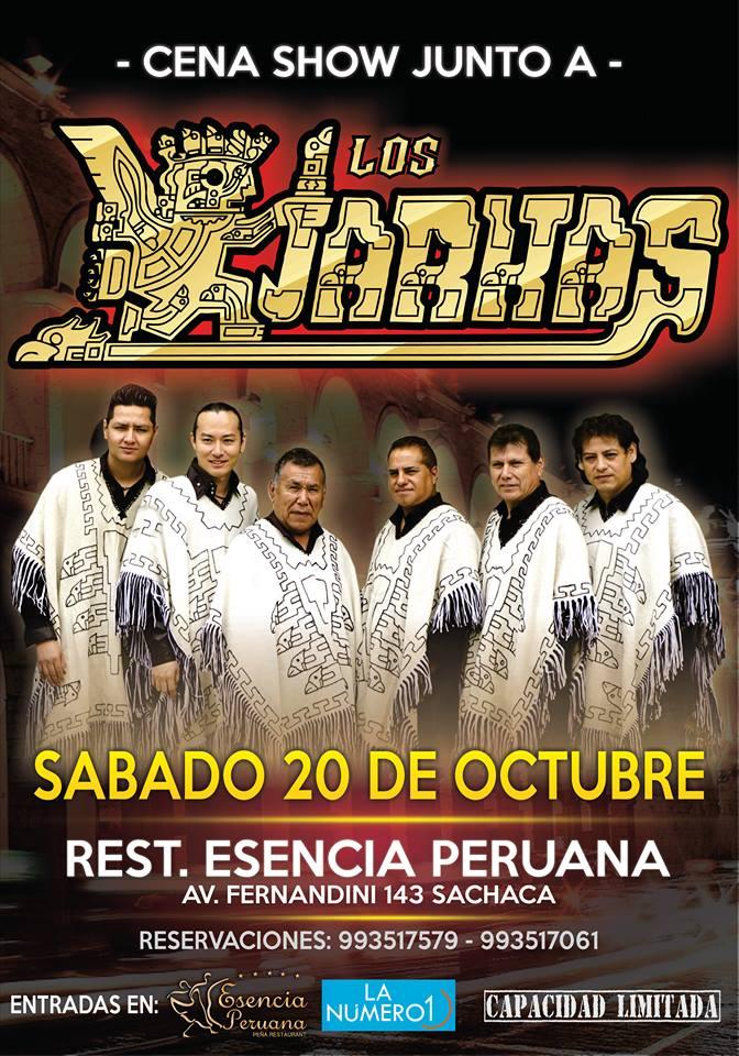 Los Kjarkas, cena show, Arequipa 2018