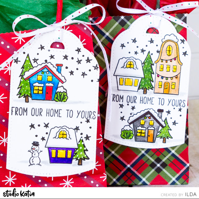 25 Days of Christmas Tags with Studio Katia by ilovedoingallthingscrafty.com