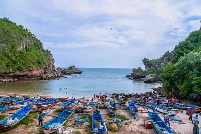 Beautiful Beach At Hidden Kidul Mountain