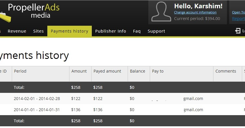 How did I make $1,611.08 in one month from Propeller Ads ...