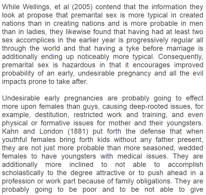 Teenage pregnancy essay