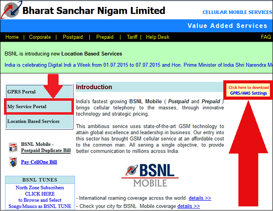 How to download BSNL 3G/2G Internet Settings and MMS Configuration for your Mobile Handset through Online Portal-1