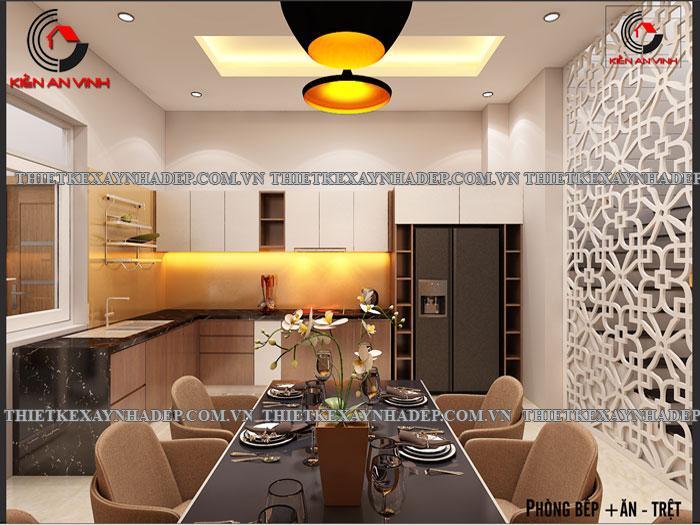 Mẫu thiết kế nhà ống 2 tầng diện tích 4x14 ở quê gia đình chị Lan Phong-bep2