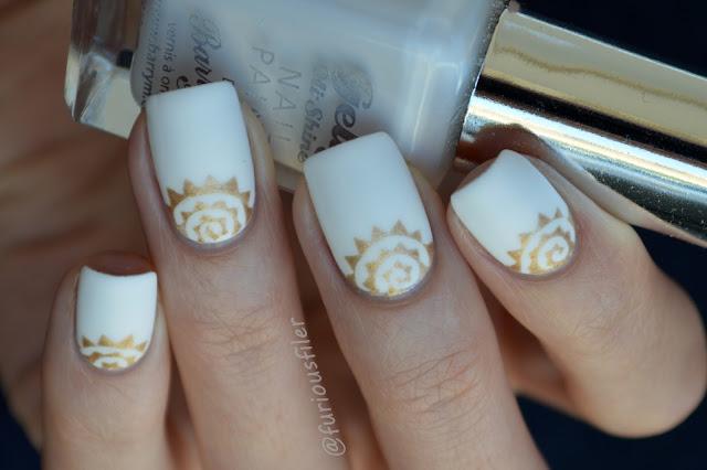 #31dc2015 spike spiral vinyls half moon nails